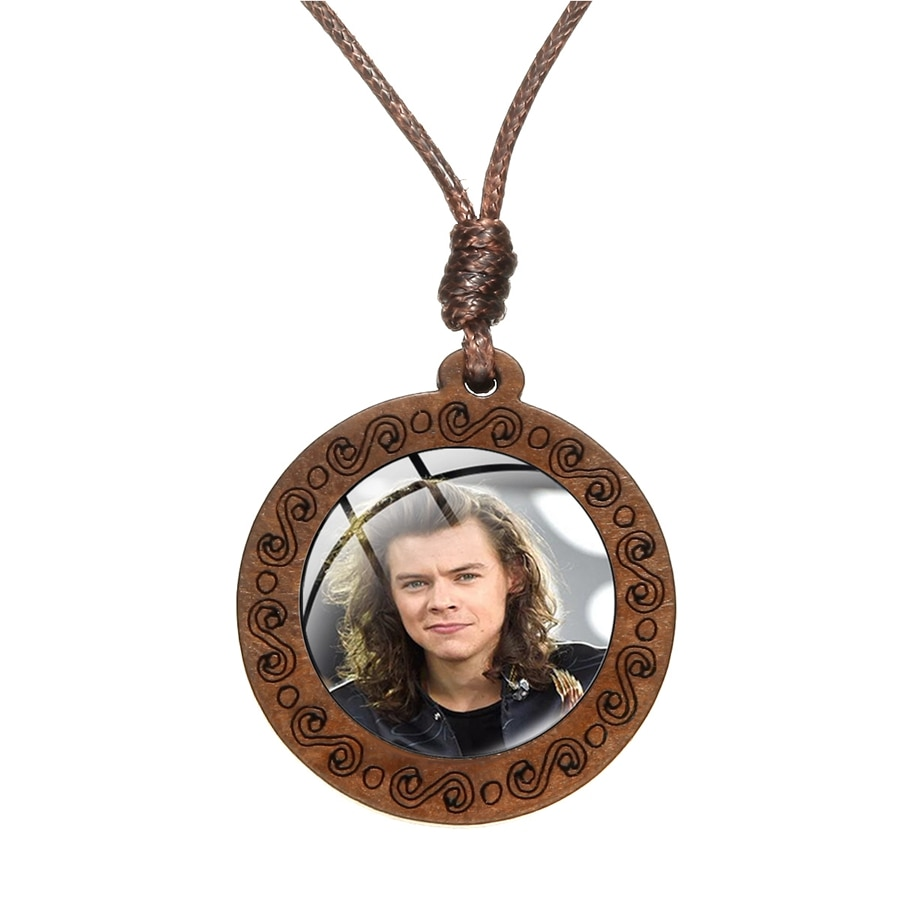Harry Styles Series Necklace Crystal Wood Pendant for Women/Men