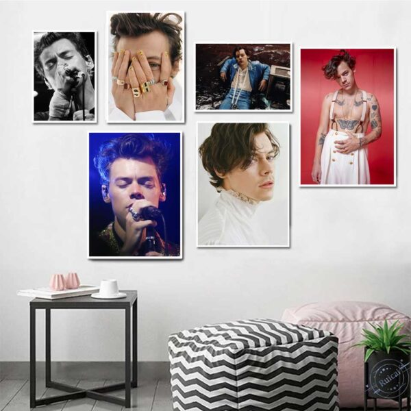 Harry Style Lights Up Modern Home Decor Poster