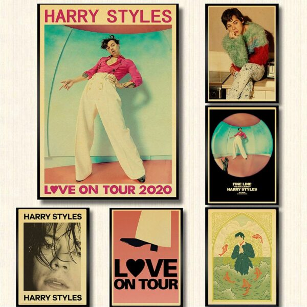 Harry Styles Poster Wall Art Canvas Painting Poster