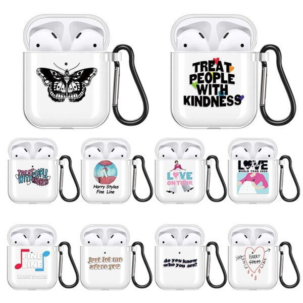 Harry Styles Butterfly Tattoo Silicone Earphone Cases
