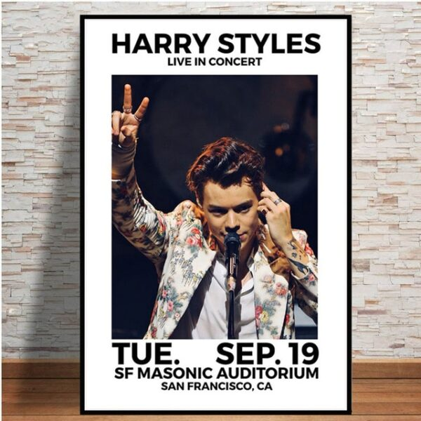 Harry Styles Live In Concert Poster